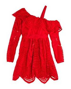 Bardot Junior Girls Asymmetrical Lace Dress  Big Kid