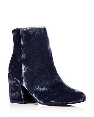 Kenneth Cole Women's Randii Crushed Velvet Block Heel Booties