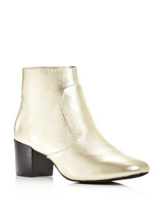 Sol Sana - Women's Martina Leather Block Heel Booties