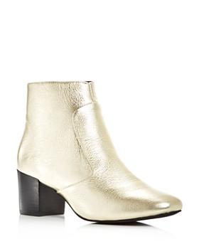 Sol Sana - Women's Martina Leather Block Heel Booties