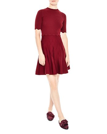Sandro - Ange Scalloped A-Line Dress