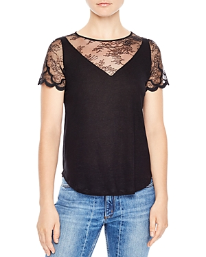 Sandro Domeka V-Neck Illusion Top