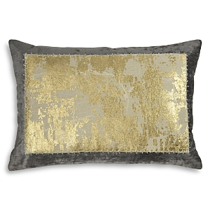Michael Aram Distressed Metallic Lace Decorative Pillow, 14 x 20