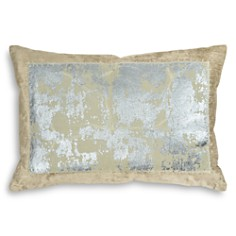 "Michael Aram - Distressed Metallic Lace Decorative Pillow, 14"" x 20"""