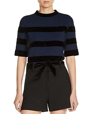 Maje Meline Open-Back Sweater