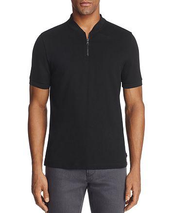 Armani Collezioni - Half Zip Classic Fit Polo Shirt