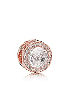 PANDORA Sterling Silver & Cubic Zirconia Rose Radiant Hearts Charm - Bloomingdale's_0