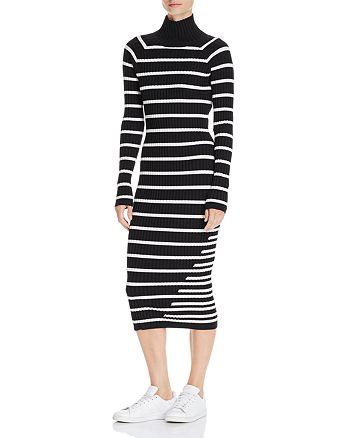 d7ee64b09d T by Alexander Wang - Striped Body-Con Sweater Dress
