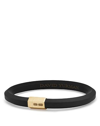 David Yurman - Men's Hex Bracelet in Black with 18K Gold
