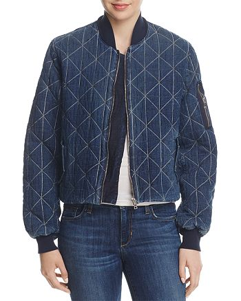 Hudson - Quilted Denim Bomber Jacket