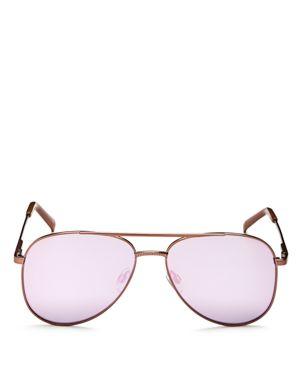 Le Specs Kingdom Mirrored Aviator Sunglasses, 57mm