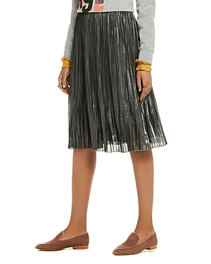 Scotch & Soda Metallic Pleated Skirt