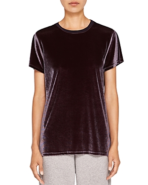 Ted Baker Ted Says Relax Hilby Velvet-Front Tee