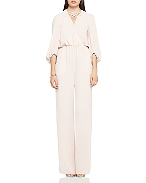 BCBGeneration Textured Crepe Jumpsuit