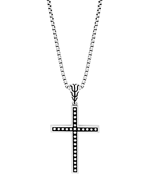 John Hardy Sterling Silver Classic Chain Jawan Cross Pendant Necklace, 20
