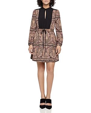 BCBGeneration Zen Paisley Mandarin Collar Dress