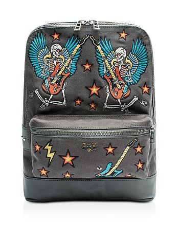 Zadig & Voltaire - Arizona Canvas Embroidered Backpack