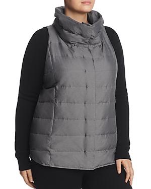 Eileen Fisher Plus Funnel Neck Puffer Vest
