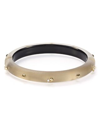 Alexis Bittar Golden Studded Hinge Bangle