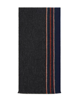 The Men's Store at Bloomingdale's - Reversible Border Pencil Stripe Scarf - 100% Exclusive