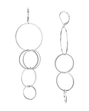 Aqua Thin Chain Drop Earrings - 100% Exclusive