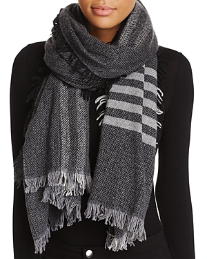 Eileen Fisher Plaid Stripe Scarf at Bloomingdale's