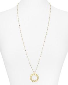 """Officina Bernardi - Circle Pendant Necklace, 30"""""""
