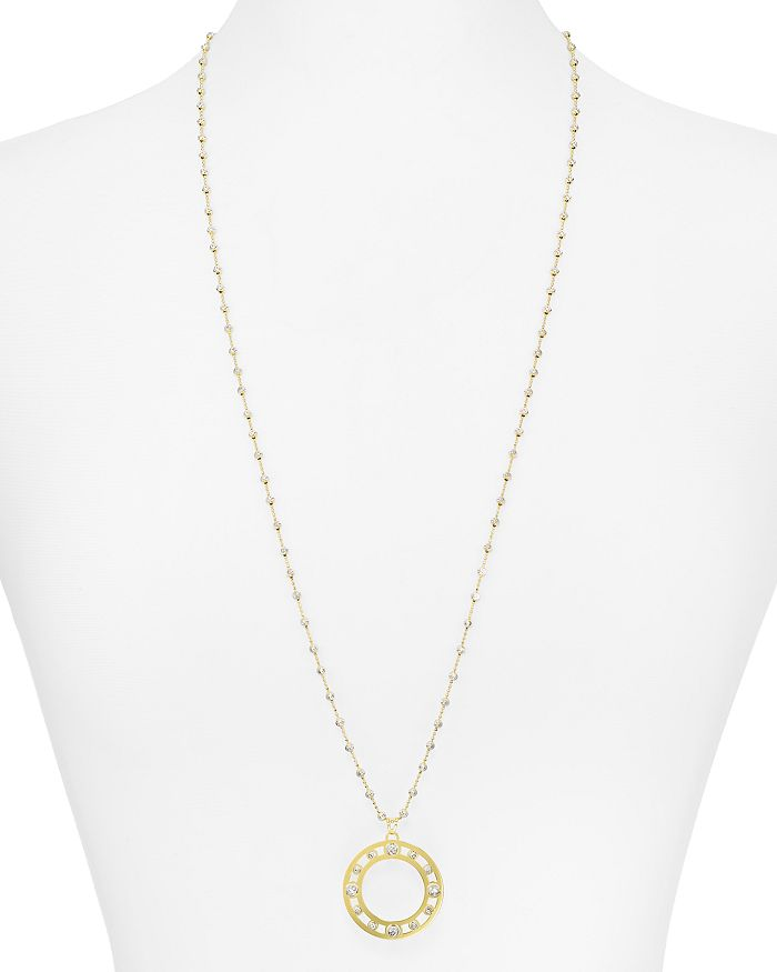 Officina Bernardi - Circle Pendant Necklace, 30""