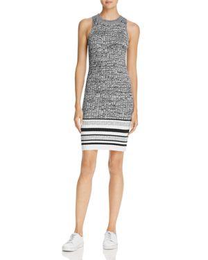 Splendid Striped-Hem Sweater Dress
