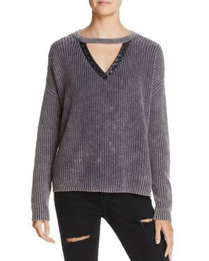 Vintage Havana Studded Cutout Sweater
