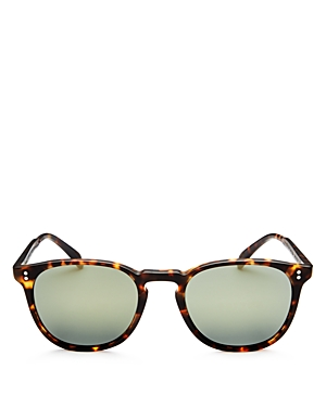 Oliver Peoples Women's Finley Polarized Mirrored Square Sunglasses, 50mm