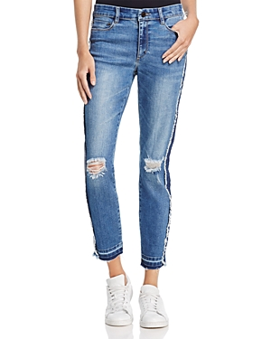 Banjara Distressed Ankle Jeans in Medium Blue