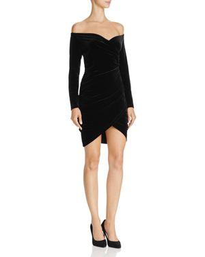 Bardot Alex Off-the-Shoulder Velvet Dress