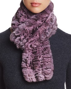 Maximilian Furs Knit Chinchilla Fur Scarf - Bloomingdale's_0