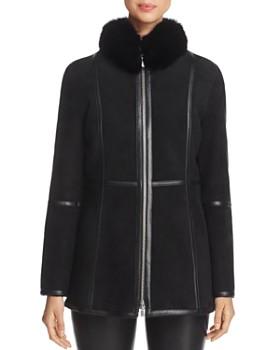 Maximilian Furs - Fox Fur-Collar Shearling Jacket - 100% Exclusive