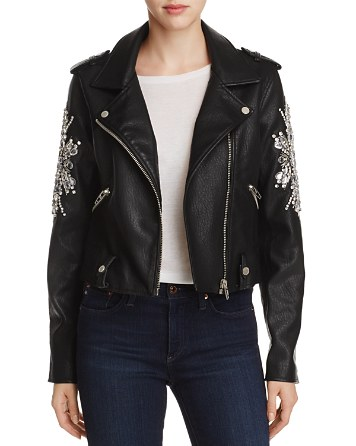 $BLANKNYC Crown Jewels Faux Leather Moto Jacket - Bloomingdale's