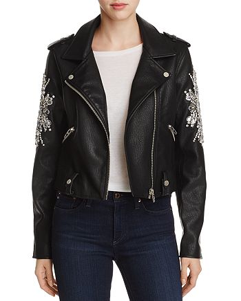 BLANKNYC - Crown Jewels Faux Leather Moto Jacket
