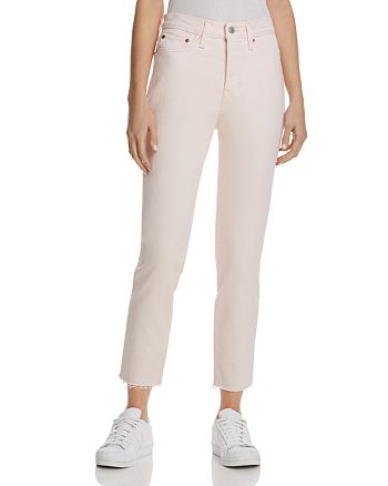 Levi's - Wedgie High-Waisted Ankle Jeans in Creole Pink