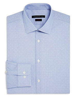 John Varvatos Star Usa Dobby Stripe Slim Fit Stretch Dress Shirt