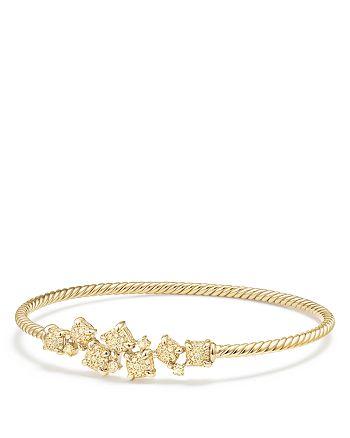 David Yurman - Precious Châtelaine Bracelet with Yellow Diamonds in 18K Gold