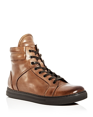 Kenneth Cole Men's Double Header Leather High Top Sneakers