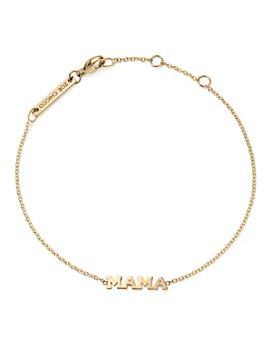 Zoë Chicco - 14K Yellow Gold Tiny Capital Letter Mama Bracelet