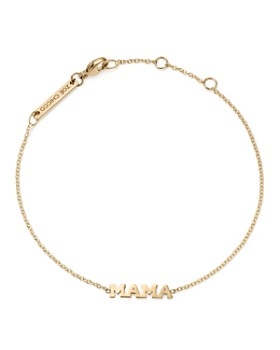 Zoë Chicco - 14K Yellow Gold Tiny Capital Letter Mama Bracelet