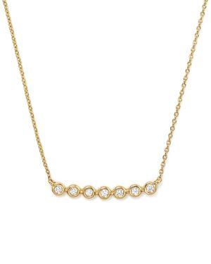 Dana Rebecca Designs 14K Yellow Gold Lulu Jack Diamond Bezel Bar Necklace, 16
