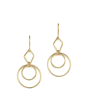 Bloomingdale's Geometric Duo Drop Earrings in 14K Yellow Gold - 100% Exclusive