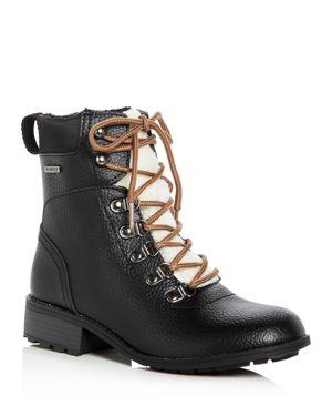 KHOMBU Women'S Eureka Waterproof Leather Cold-Weather Booties in Black