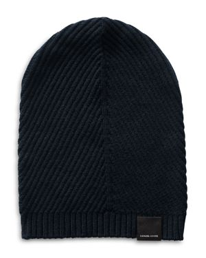 Canada Goose Contour Ribbed Knit Wool Beanie