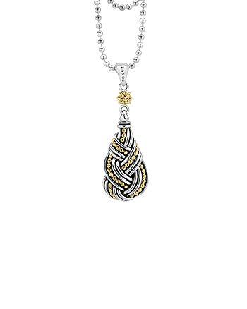 "LAGOS - 18K Gold & Sterling Silver Torsade Drop Pendant Necklace, 36"""