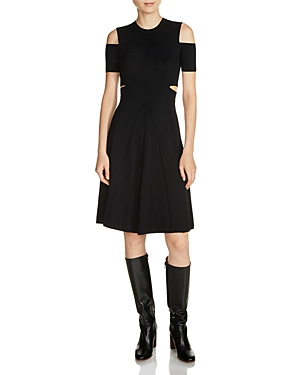 Maje Ristourne Cutout Sweater Dress