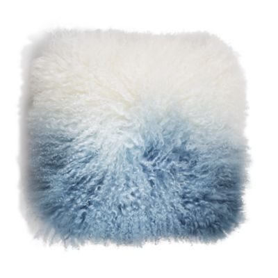 $Eightmood Fuyu Dip-Dyed Fur Decorative Pillow, 16